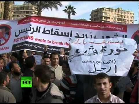 Video of thousands on Cairo's Tahrir Square demanding Mubarak goes