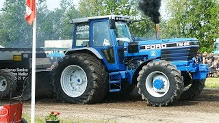 Ford TW-15, TW-25, 6710, 8200, 8700 Pulling The Heavy Sledge at Pulling Arena | Tractor Pulling DK