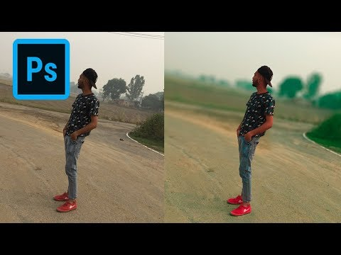 Change Normal Photos Into DSLR Effect Photo   Photoshop Tutorial thumbnail