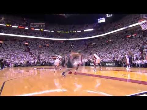 Spurs vs Heat - Chris Bosh Blocks Danny Green - Game 6 Finals