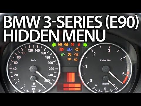 How to enter hidden menu in BMW E90 E91 E92 E93 (3 Series service test mode)