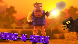 HELLO NEIGHBOR IN MINECRAFT!? Hide N Seek #1 (Minecraft Roleplay)