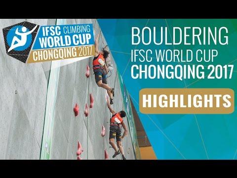 IFSC Climbing World Cup Chongqing 2017 - Bouldering Finals Highlights