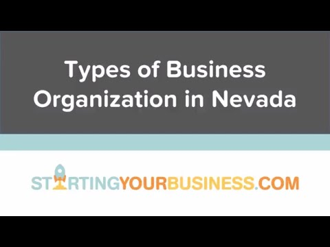 Types of Business Organization in Nevada - Starting a Business in Nevada