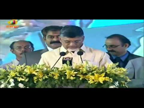 N Chandrababu Naidu swearing in as first Cheif Minister of new Andhra Pradesh - CBN taking oath
