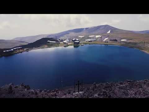 Гора Арагац, высокогорное озеро Кари и замок Амберд с DJI Mavic 2017