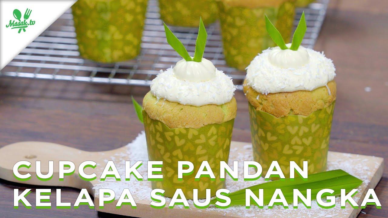 Resep Cupcake Pandan Kelapa Saus Nangka