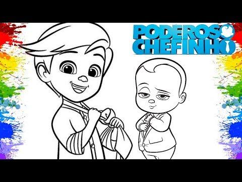 Colorir desenhos O Poderoso Chefinho Cartoons The Boss baby DreamWorks Video para crianças