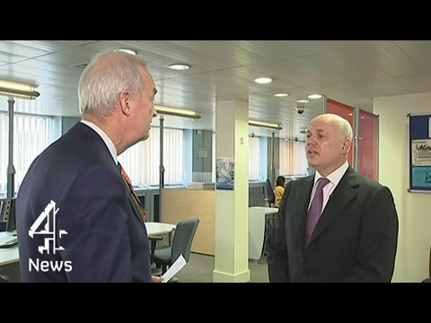 """Do tax evaders make your blood boil?"" Jon Snow interviews Iain Duncan Smith 