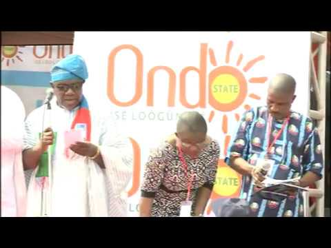 AKEREDOLU INAUGURATION CEREMONY AS ONDO GOVERNOR