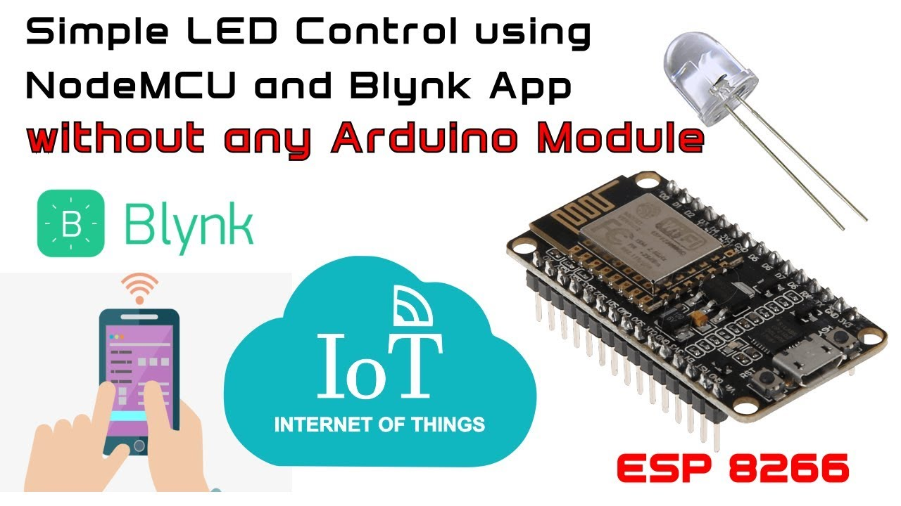 Simple Led Control With Blynk and NodeMCU Esp8266 12E: 8 Steps