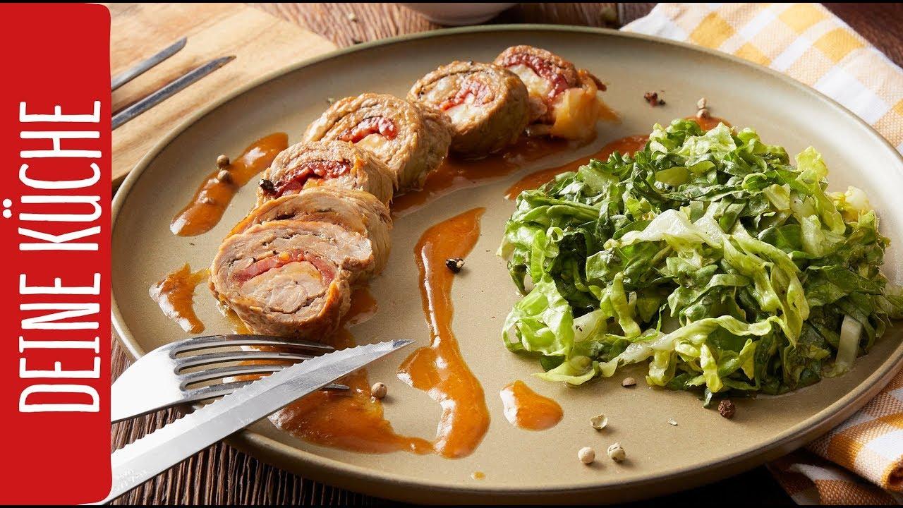 Gerollte Kalbsschnitzel mit Manchego   REWE Deine Küche