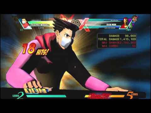 UMvC3 - Phoenix Wright Objection! Combos (Community Combo Compilation: Call for Phoenix Wright!)