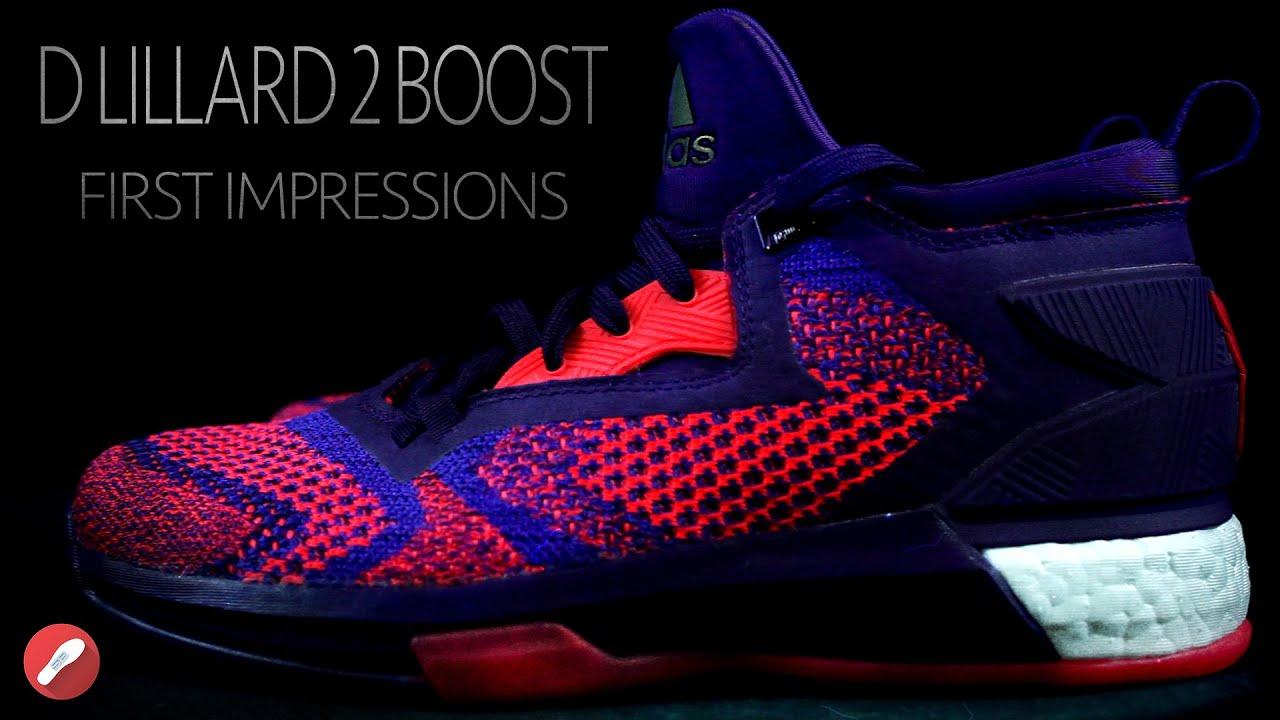 new arrivals b08cc 03b2b Adidas D. Lillard 2 Boost (All Star) First Impressions!