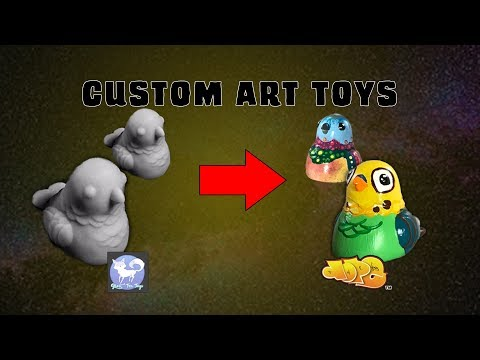 Custom Resin Art Toy Painting Workflow