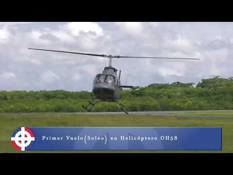 Segundo Teniente De La FARD Realiza Vuelo Solo En Helicóptero.