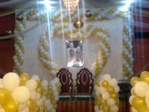 Balloon Decoration (yellow \u0026 white ).crazychaps Events company +919826181112