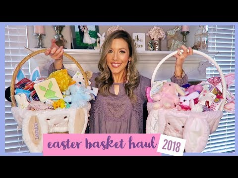 EASTER BASKET HAUL 🐰🐣| 2018 | BOY AND GIRL IDEAS | collab with emily - momma from scratch