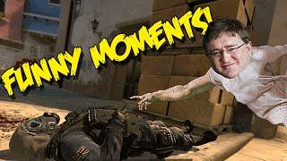 CS GO FUNNY MOMENTS - NO SCOPE CLUTCH ,GABEN THE GOD, AZZYS PC SETUP (Funny Moments)