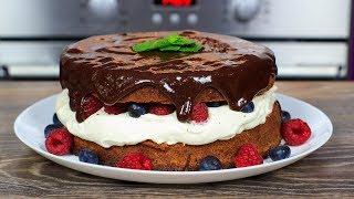 ШОКОЛАДНЫЙ торт с ЯГОДАМИ | Вкусный торт украшенный ягодами (рецепт торта) | Chocolate Cake recipe