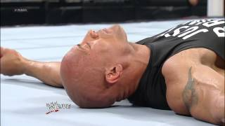 The Shield attacks The Rock: Raw, Jan 21, 2013