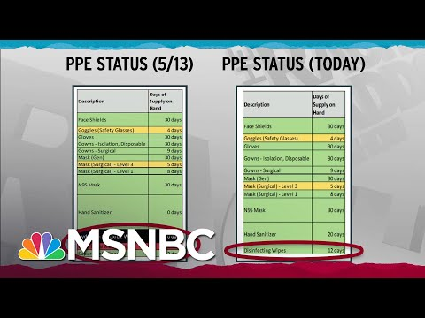V.A. Tries To Hide Supply Challenges Faced In Coronavirus Fight | Rachel Maddow | MSNBC