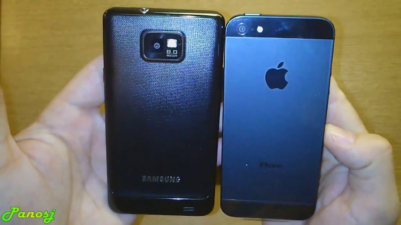 Apple iPhone 5 & Samsung Galaxy s2: Boxes & Phones ...