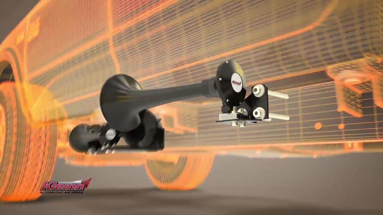 with Model 230 Train Horn Kleinn Air Horns RAMHD-734 Black RAM HD Onboard Air System