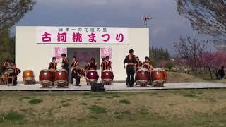 古河桃まつり 古河和太鼓保存会 2019-03-31 X3000