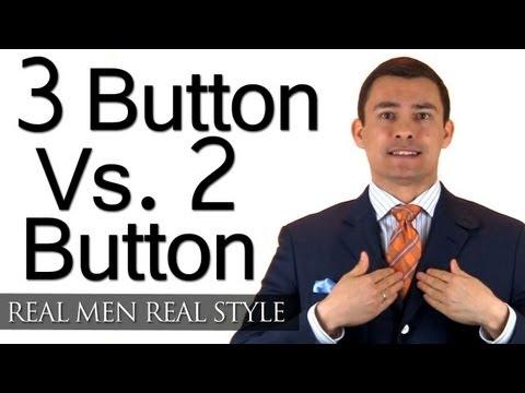 Choosing Between 3 Button & 2 Button Mens Suits - 2 Button Jacket Vs. 3 Button Jackets