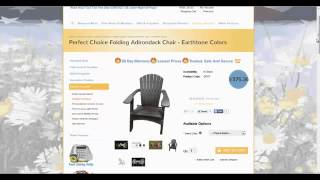 Heavy Duty Folding Adirondack Chair Patio Furniture