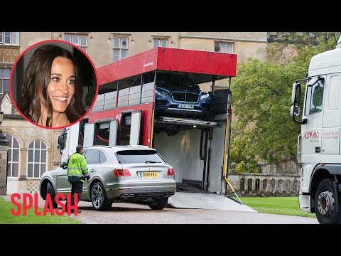 Fleet of Bentley's Delivered for Pippa Middleton's Wedding | Splash News TV