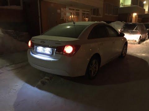 Замена лампочек подсветки номера и салона на диоды Chevrolet Cruze.