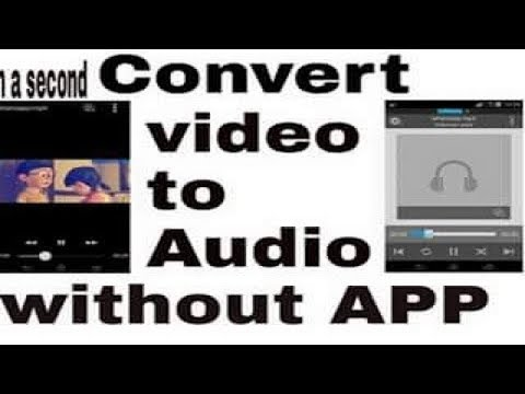 How To Convert Video To Audio(Mp3) without App/Software In a Second||technical guru