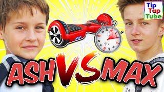 Max vs. Ash - Hoverboard CHALLENGE - Wem wird schlecht? TipTapTube