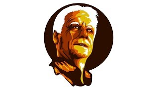 [SPEED ART] VECTOR PORTRAIT old man   Adobe illustrator
