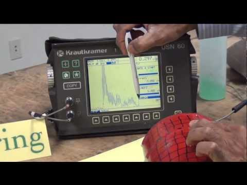 Birring NDT Series, Ultrasonic Testing # 1B, Thickness Measurement Calibration Steps