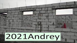 Дом из газобетона, кладка на раствор, лучше так не делать.(Дом примерно 12 х 12 метров, это строил сам хозяин, один без помощников, он молодец - это очень тяжело, хоть..., 2014-09-24T17:45:49.000Z)