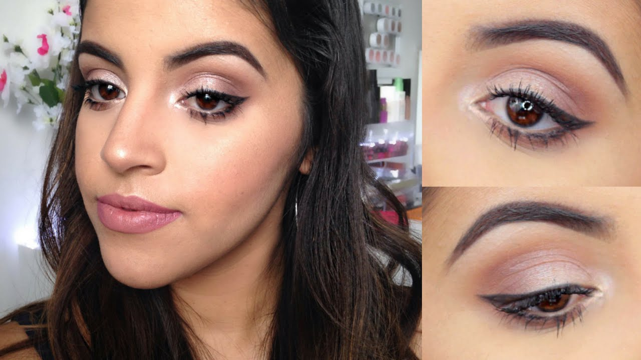 makeup tutorial for brown eyes | for beginners