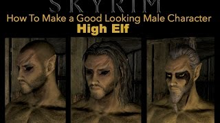 Skyrim Special Edition How To Make a Good Looking Character - High Elf Male - No mods