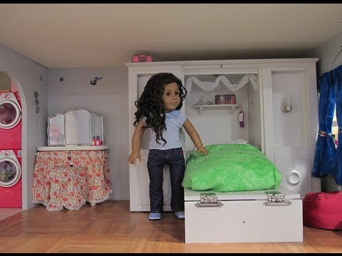 Doll Furniture For 18 Inch Dolls American Girl Doll House tour Update - also a trash can craft idea ...