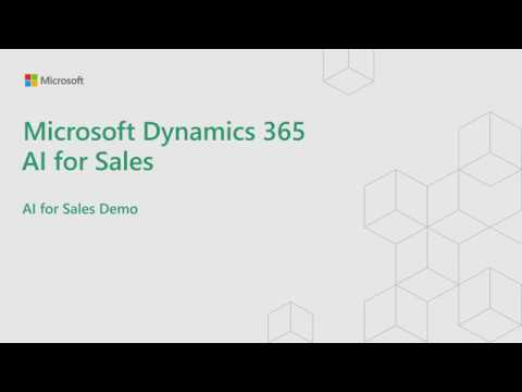 Demo for Dynamics 365 AI for Sales
