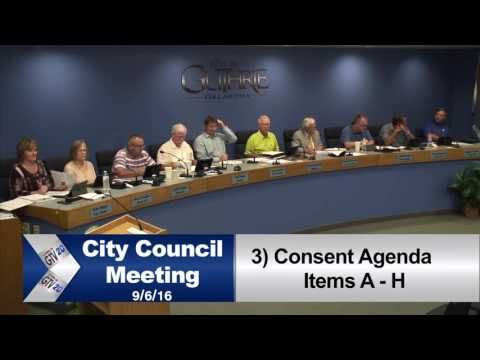 CITY COUNCIL MEETING SEPT  6th 2016