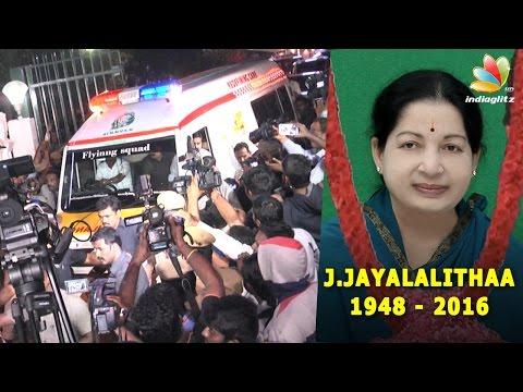 Jayalalithaa is Dead : CM