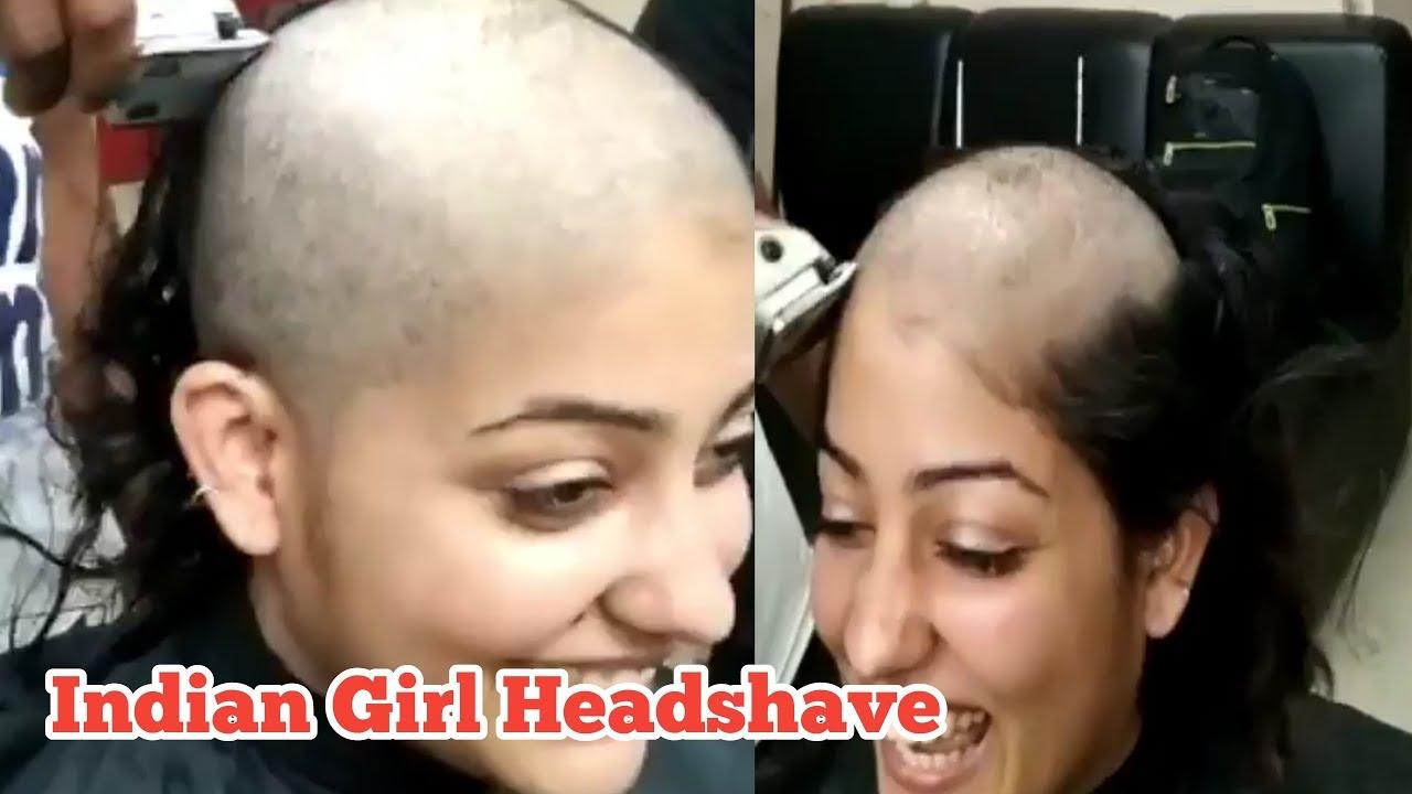 Headshave girl Bald is