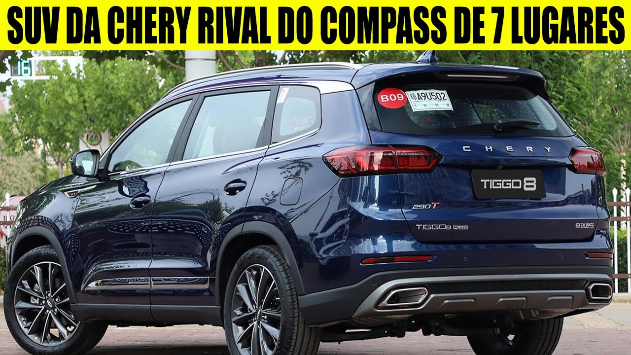 NOVO SUV DA CAOA CHERY TIGGO 8 PLUS CHEGARÁ ATÉ O FIM DE 2021 ELE SERÁ RIVAL DO COMPASS DE 7 LUGARES