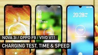 Huawei Nova 3i / Oppo F9 / Vivo V11 Charging Test | Zeibiz