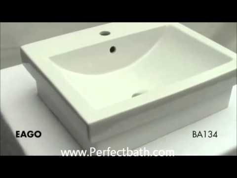 Square Semi Vessel Sink BA134 WWW.Perfectbath.com
