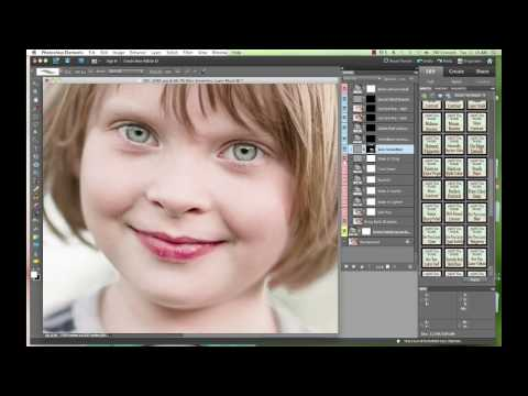 """All In One Retouching Photoshop Elements Action, """"Perfect Portrait"""" by Paint the Moon"""