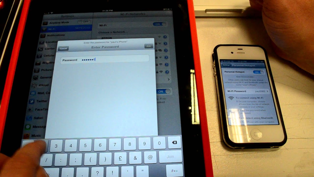 How to use personal hotspot from iPhone to iPad tethering